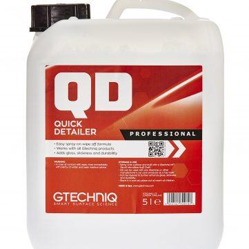 Gtechniq Quick Detailer 5L creeaza un luciu intens, o suprafata alunecoasa si o protectie durabila si este usor de sters si aplicat.