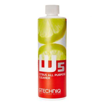 Gtechniq W5 Citrus All Purpose Cleaner 500ml - APC foarte puternic. Nu ataca stratul de ceara, sealant, ceramica sau ornamente din plastic sau crom.