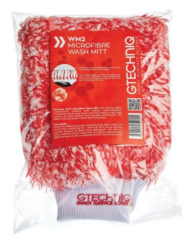 Gtechniq WM2 Microfibre Wash Mitt - Manusa Spalare - combinația de fire lungi și fire scurte oferă o putere mare de captare a contaminanților.