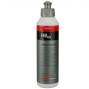 Koch Chemie Heavy Cut H8.02 250ml - Pasta Polish Abraziv. Elimină zgârieturile adânci, gazările şi urmele de hârtie abrazivă până la P1500. Fără silicon/ulei